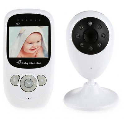 SP880 Wireless Baby Monitor LCD Display Two-way Audio Night Light Temperature Monitoring Lullabies