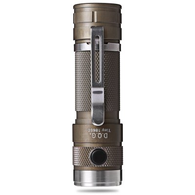 DQG Tiny 4th Cree XM L2 850Lm LED FlashlightLED Flashlights<br>DQG Tiny 4th Cree XM L2 850Lm LED Flashlight<br><br>Available Light Color: Cool White,Neutral White<br>Battery Included or Not: No<br>Battery Quantity: 1 (not included)<br>Battery Type: 18650<br>Beam Distance: 100-200m<br>Body Material: Aircraft-grade Aluminum T6061<br>Brand: D.Q.G<br>Emitters: Cree XM-L2<br>Emitters Quantity: 1<br>Feature: Waterproof, Stainless Steel Bezel, Lightweight, Integrated Heat Dissipation Design<br>Flashlight size: Mid size<br>Flashlight Type: Handheld<br>Function: Walking, Seeking Survival, Night Riding, Household Use, Hiking, Exploring, EDC, Camping<br>High Mode: 4h (300Lm)<br>Lens: PMMA TIR Lens<br>Light color: Cool White<br>Light Modes: High,Low,Mid,Turbo<br>Low Mode: Over 300h (3.5Lm)<br>Lumens Range: 500-1000Lumens<br>Luminous Flux: 850Lm<br>Mid Mode: 15h (80Lm)<br>Mode: 4(Turbo; High; Middle; Low)<br>Model: Tiny 4th<br>Package Contents: 1 x DQG Tiny 4th Flashlight, 1 x Spare O-ring, 1 x Stainless Clip<br>Package size (L x W x H): 10.00 x 4.00 x 4.00 cm / 3.94 x 1.57 x 1.57 inches<br>Package weight: 0.1000 kg<br>Power Source: Battery<br>Product size (L x W x H): 8.60 x 2.20 x 2.20 cm / 3.39 x 0.87 x 0.87 inches<br>Product weight: 0.0360 kg<br>Waterproof Standard: IPX-8 Standard Waterproof