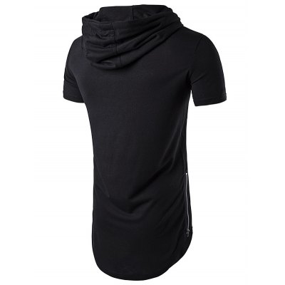 WHATLEES Men Round Neck Long Hooded T-shirtMens Short Sleeve Tees<br>WHATLEES Men Round Neck Long Hooded T-shirt<br><br>Brand: WHATLEES<br>Color: Black,Blue,Light Gray,White,Wine red<br>Material: Cotton<br>Neckline: Round Neck<br>Package Content: 1 x T-shirt<br>Package size: 32.00 x 28.00 x 2.00 cm / 12.6 x 11.02 x 0.79 inches<br>Package weight: 0.3400 kg<br>Pattern Type: Solid<br>Product weight: 0.3000 kg<br>Season: Summer<br>Size: L,M,S,XL,XXL<br>Sleeve Length: Short Sleeves<br>Style: Casual