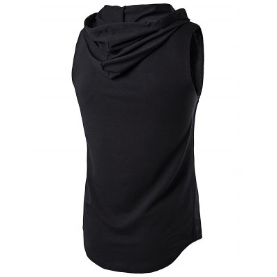 WHATLEES Sleeveless Thin Black HoodieMens Short Sleeve Tees<br>WHATLEES Sleeveless Thin Black Hoodie<br><br>Brand: WHATLEES<br>Material: Cotton<br>Package Content: 1 x WHATLEES Hoodie<br>Package size: 32.00 x 28.00 x 2.00 cm / 12.6 x 11.02 x 0.79 inches<br>Package weight: 0.3400 kg<br>Product weight: 0.3000 kg<br>Season: Summer<br>Size: L,M,S,XL,XXL<br>Sleeve Length: Sleeveless<br>Style: Sport