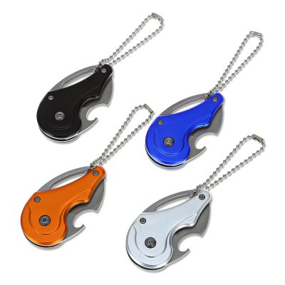 Mini Liner Lock Folding Claw Knife Bottle Opener with Key Chain