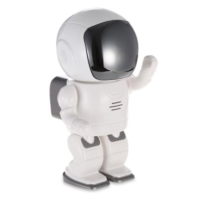 720P Smart Robot Shape WiFi IP Camera Baby MonitorBaby Monitor<br>720P Smart Robot Shape WiFi IP Camera Baby Monitor<br><br>APP: CAM360<br>APP Language: Chinese,Danish,Dutch,English,Finnish,French,German,Italian,Japanese,Korean,Polish,Portuguese,Russian,Spanish,Swedish<br>Audio Input: Built-in MIC<br>Audio Output: Built-in speaker<br>Compatible OS: IOS, Android<br>Feature: Remote Control, Night Vision, IP camera, Intercom<br>Frame Rate : 1 - 25fps<br>Infrared LED: 10pcs<br>IP camera performance: Real-time video capture and recording, Screenshot, Support video control, Motion Detection, Night Vision<br>Min. Illumination: 0.5 Lux<br>Net Protocol: DDNS,DHCP,FTP,HTTP,LAN,P2P,RTSP,UPNP<br>Night Vision Distance: 10m<br>Package Contents: 1 x Baby Monitor, 1 x English / Chinese User Manual, 1 x Power Adapter ( EU Plug ), 1 x Wall Bracket, 2 x Screw, 2 x Screw Cap, 1 x USB Cable ( 1.22m )<br>Package size (L x W x H): 31.50 x 16.00 x 11.50 cm / 12.4 x 6.3 x 4.53 inches<br>Package weight: 0.6850 kg<br>Power: 5V / 2A<br>Product size (L x W x H): 20.00 x 11.50 x 9.50 cm / 7.87 x 4.53 x 3.74 inches<br>Product weight: 0.3180 kg<br>S/N Ration: 48dB<br>Sensor: CMOS<br>Sensor size (inch): 1/4<br>Shape: Mini Camera<br>Technical Feature: Infrared, Pan/Tilt/Zoom<br>TV System: PAL, NTSC<br>Valid Pixel: 1MP<br>WiFi Standard: 802.11b/g/n<br>Working Temp.(?): -50 - 45 Deg.C