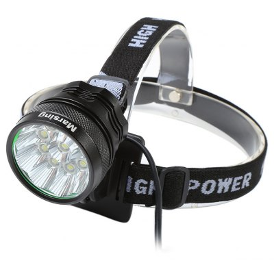 Marsing 8.4V 3 Modes 10 LED Cree XML T6 Bicycle Light