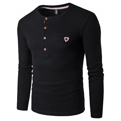 WHATLEES Knitted Long Sleeve T Shirts