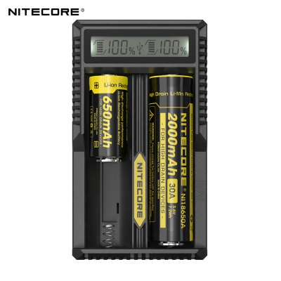 New Arrival Nitecore UM20 Smart Charger with High Definition LCD Display for 18650 18490 18350 10440 Batteries
