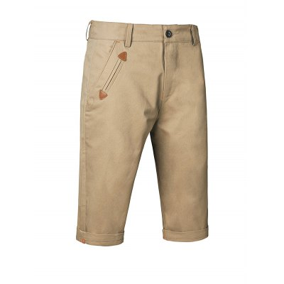 Straight Half High Waisted Shorts for Men