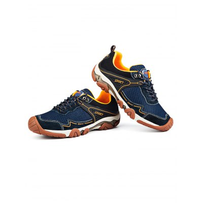 Men Mountaineering Hiking Shoes for Outdoor SportHiking Shoes<br>Men Mountaineering Hiking Shoes for Outdoor Sport<br><br>Available Size: 38, 39, 40, 41, 42, 43, 44<br>Color: Deep Blue,Khaki<br>Features: Anti-slip, Breathable, Crashworthy, Durable<br>Gender: Men<br>Highlights: Breathable<br>Package Contents: 1 x Outdoor Hiking Shoe ( Pair )<br>Package size: 35.00 x 24.00 x 14.00 cm / 13.78 x 9.45 x 5.51 inches<br>Package weight: 0.9200 kg<br>Product weight: 0.6800 kg<br>Season: Winter, Summer, Spring, Autumn<br>Size: 38,39,40,41,42,43,44<br>Sole Material: TPU<br>Type: Hiking Shoes<br>Upper Height: Middle