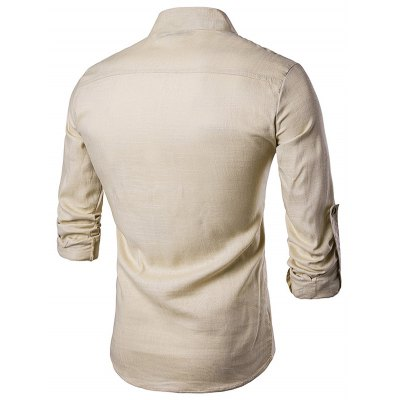 WHATLEES New Fashionable Long Sleeve T-shirtMens Shirts<br>WHATLEES New Fashionable Long Sleeve T-shirt<br><br>Brand: WHATLEES<br>Material: Linen<br>Package Contents: 1 x T-shirt<br>Package size: 40.00 x 30.00 x 2.00 cm / 15.75 x 11.81 x 0.79 inches<br>Package weight: 0.4000 kg<br>Product weight: 0.3500 kg<br>Size: L,M,S,XL,XXL