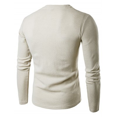 WHATLEES Knitted Long Sleeve T ShirtsMens Long Sleeves Tees<br>WHATLEES Knitted Long Sleeve T Shirts<br><br>Brand: WHATLEES<br>Material: Cotton<br>Neckline: Round Neck<br>Package Content: 1 x WHATLEES T Shirt<br>Package size: 40.00 x 30.00 x 2.00 cm / 15.75 x 11.81 x 0.79 inches<br>Package weight: 0.3300 kg<br>Product weight: 0.2900 kg<br>Season: Autumn, Spring<br>Size: L,M,S,XL,XXL<br>Sleeve Length: Long Sleeves<br>Style: Casual