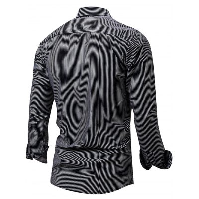 FREDDMARSHALL Men Pinstripe ShirtMens Shirts<br>FREDDMARSHALL Men Pinstripe Shirt<br><br>Brand: FREDD MARSHALL<br>Material: Cotton<br>Package Contents: 1 x FREDDMARSHALL Shirt<br>Package size: 32.00 x 23.00 x 3.00 cm / 12.6 x 9.06 x 1.18 inches<br>Package weight: 0.2800 kg<br>Product weight: 0.2400 kg<br>Size: L,M,XL,XXL