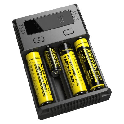 Nitecore NEW i4 Battery ChargerChargers<br>Nitecore NEW i4 Battery Charger<br><br>Brand: Nitecore<br>Charging Cell Qty: 4<br>Charging Cell Type: LiFePO4, Lithium Ion, Ni-MH, NiCd<br>Circuit Detection: Yes<br>Model: NEW i4<br>Package Contents: 1 x Nitecore New i4 Battery Charger, 1 x Adapter<br>Package size (L x W x H): 20.00 x 20.00 x 5.00 cm / 7.87 x 7.87 x 1.97 inches<br>Package weight: 0.4200 kg<br>Product size (L x W x H): 13.50 x 9.50 x 3.00 cm / 5.31 x 3.74 x 1.18 inches<br>Product weight: 0.2120 kg<br>Reverse Polarity Protection: Yes<br>Type: Charger