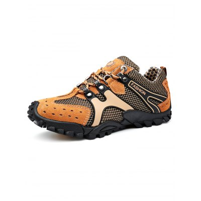 Breathable Outdoor Hiking ShoesHiking Shoes<br>Breathable Outdoor Hiking Shoes<br><br>Available Size: 38, 39, 40, 41, 42, 43, 44<br>Closure Type: Lace-Up<br>Color: Deep Brown,Deep yellow,Gray<br>Features: Crashworthy, Durable, Shock-absorbing, Breathable, Anti-slip, Sweat-absorbing<br>Gender: Men<br>Highlights: Sweat Absorbing, Breathable<br>Package Contents: 1 x Pair of Shoes<br>Package size: 33.00 x 22.00 x 12.00 cm / 12.99 x 8.66 x 4.72 inches<br>Package weight: 1.0300 kg<br>Product weight: 0.7500 kg<br>Season: Winter, Summer, Spring, Autumn<br>Type: Hiking Shoes