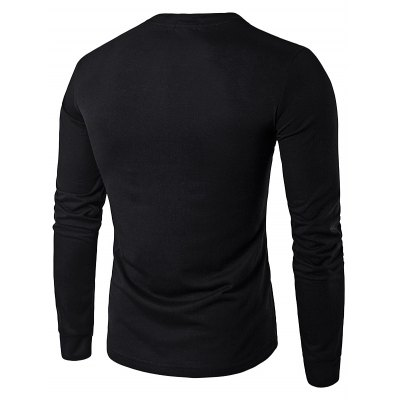 WHATLEES Contrast Placket Long Sleeve Art T-ShirtsMens Long Sleeves Tees<br>WHATLEES Contrast Placket Long Sleeve Art T-Shirts<br><br>Brand: WHATLEES<br>Material: Cotton, Cotton<br>Neckline: Round Neck, Round Neck<br>Package Content: 1 x WHATLEES T Shirt , 1 x WHATLEES T Shirt<br>Package size: 40.00 x 30.00 x 2.00 cm / 15.75 x 11.81 x 0.79 inches, 40.00 x 30.00 x 2.00 cm / 15.75 x 11.81 x 0.79 inches<br>Package weight: 0.2800 kg, 0.2800 kg<br>Product weight: 0.2500 kg, 0.2500 kg<br>Season: Spring, Autumn, Spring, Autumn<br>Size: L,M,S,XL,XXL, L,M,S,XL,XXL<br>Sleeve Length: Long Sleeves, Long Sleeves<br>Style: Casual, Casual