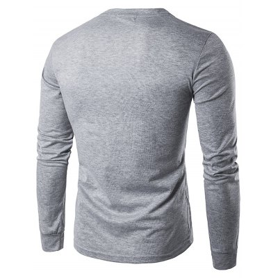 WHATLEES Contrast Placket Long Sleeve Art T-ShirtsMens Long Sleeves Tees<br>WHATLEES Contrast Placket Long Sleeve Art T-Shirts<br><br>Brand: WHATLEES<br>Material: Cotton<br>Neckline: Round Neck<br>Package Content: 1 x WHATLEES T Shirt<br>Package size: 40.00 x 30.00 x 2.00 cm / 15.75 x 11.81 x 0.79 inches<br>Package weight: 0.2800 kg<br>Product weight: 0.2500 kg<br>Season: Autumn, Spring<br>Size: L,M,S,XL,XXL<br>Sleeve Length: Long Sleeves<br>Style: Casual