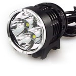 K4-P 4 x Cree XM-L T6 4800 Lumens 4 Modes Waterproof Headlight Bicycle Light with 3600mAh Battery Pack