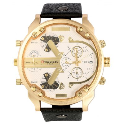 Shiweibao A3137 Dual Time Male Quartz Watch