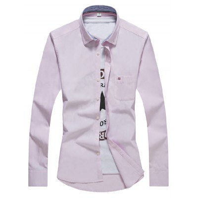 Long Sleeve Peach Mens Shirt