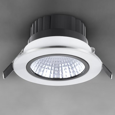 WBR - 0011 - 2 COB 680  -  750LM 7W 85  -  265V Deep Cup LED Warm White Ceiling Down Light for Commercial Lighting (White Shell)