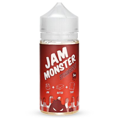 Jam Monster Strawberry E-juice with 100ml / 3mg