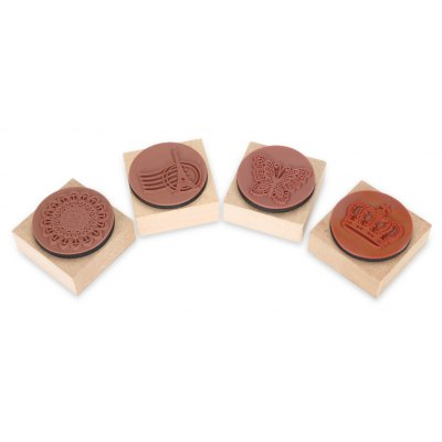4PCS Stamp Seal with Ink Pad
