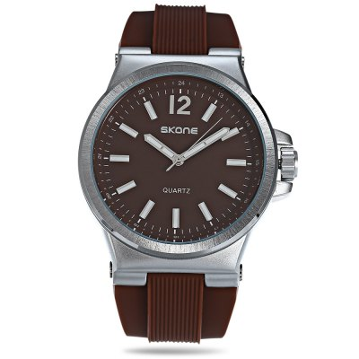SKONE 5155G Men Wristwatch Quartz WatchMens Watches<br>SKONE 5155G Men Wristwatch Quartz Watch<br><br>Band material: Rubber<br>Band size: 27.00 x 2.50 cm / 10.63 x 0.98 inches<br>Brand: Skone<br>Case material: Alloy<br>Clasp type: Pin buckle<br>Dial size: 5.00 x 5.00 x 1.00 cm / 1.97 x 1.97 x 0.39 inches<br>Display type: Analog<br>Movement type: Quartz watch<br>Package Contents: 1 x SKONE 5155G Watch with Box<br>Package size (L x W x H): 10.00 x 7.50 x 4.70 cm / 3.94 x 2.95 x 1.85 inches<br>Package weight: 0.1300 kg<br>Product size (L x W x H): 27.00 x 5.00 x 1.00 cm / 10.63 x 1.97 x 0.39 inches<br>Product weight: 0.0960 kg<br>Shape of the dial: Round<br>Watch color: Black, White, Coffee<br>Watch style: Casual<br>Watches categories: Men<br>Wearable length: 18.50 - 24.00 cm / 7.28 - 9.44 inches