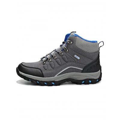 Skidproof High Upper Hiking Shoes for LoversHiking Shoes<br>Skidproof High Upper Hiking Shoes for Lovers<br><br>Available Size: 35, 36, 37, 38, 39, 40, 41, 42, 43, 44<br>Closure Type: Lace-Up<br>Color: Blue,Gray,Purple,Rose Red<br>Features: Anti-slip, Breathable, Durable, Water Resistant<br>Gender: Unisex<br>Highlights: Sweat Absorbing, Breathable<br>Package Contents: 1 x Pair of Shoes<br>Package size: 33.00 x 22.00 x 12.00 cm / 12.99 x 8.66 x 4.72 inches<br>Package weight: 1.2200 kg<br>Product weight: 0.9000 kg<br>Season: Winter, Spring, Autumn<br>Type: Hiking Shoes<br>Upper Height: High