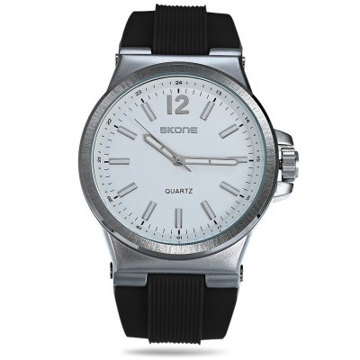 SKONE 5155G Men Wristwatch Quartz WatchMens Watches<br>SKONE 5155G Men Wristwatch Quartz Watch<br><br>Band material: Rubber<br>Band size: 27.00 x 2.50 cm / 10.63 x 0.98 inches<br>Brand: Skone<br>Case material: Alloy<br>Clasp type: Pin buckle<br>Dial size: 5.00 x 5.00 x 1.00 cm / 1.97 x 1.97 x 0.39 inches<br>Display type: Analog<br>Movement type: Quartz watch<br>Package Contents: 1 x SKONE 5155G Watch with Box<br>Package size (L x W x H): 20.00 x 7.00 x 8.00 cm / 7.87 x 2.76 x 3.15 inches<br>Package weight: 0.1820 kg<br>Product size (L x W x H): 27.00 x 5.00 x 1.00 cm / 10.63 x 1.97 x 0.39 inches<br>Product weight: 0.0960 kg<br>Shape of the dial: Round<br>Watch color: Black, White, Coffee<br>Watch style: Casual<br>Watches categories: Men<br>Wearable length: 18.50 - 24.00 cm / 7.28 - 9.44 inches