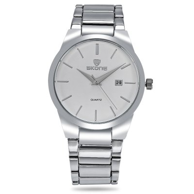 SKONE 7382B Day Date Display Men Quartz WatchMens Watches<br>SKONE 7382B Day Date Display Men Quartz Watch<br><br>Band material: Alloys<br>Band size: 21.00 x 2.00cm / 8.27 x 0.78 inches<br>Case material: Stainless Steel<br>Clasp type: Folding clasp with safety<br>Dial size: 4.50 x 4.50 x 0.90 cm / 1.77 x 1.77 x 0.35 inches<br>Display type: Analog<br>Movement type: Quartz watch<br>Package Contents: 1 x SKONE 7382B Watch with Box<br>Package size (L x W x H): 20.00 x 7.00 x 8.00 cm / 7.87 x 2.76 x 3.15 inches<br>Package weight: 0.1400 kg<br>Product size (L x W x H): 21.00 x 4.50 x 0.90 cm / 8.27 x 1.77 x 0.35 inches<br>Product weight: 0.1070 kg<br>Shape of the dial: Round<br>Watch color: Silver and White, Silver and Black, Black White, Black<br>Watch style: Business<br>Watches categories: Men