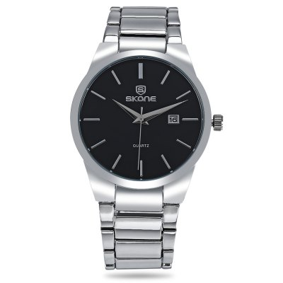 SKONE 7382B Day Date Display Men Quartz WatchMens Watches<br>SKONE 7382B Day Date Display Men Quartz Watch<br><br>Band material: Alloys<br>Band size: 21.00 x 2.00cm / 8.27 x 0.78 inches<br>Case material: Stainless Steel<br>Clasp type: Folding clasp with safety<br>Dial size: 4.50 x 4.50 x 0.90 cm / 1.77 x 1.77 x 0.35 inches<br>Display type: Analog<br>Movement type: Quartz watch<br>Package Contents: 1 x SKONE 7382B Watch with Box<br>Package size (L x W x H): 20.00 x 7.00 x 8.00 cm / 7.87 x 2.76 x 3.15 inches<br>Package weight: 0.1880 kg<br>Product size (L x W x H): 21.00 x 4.50 x 0.90 cm / 8.27 x 1.77 x 0.35 inches<br>Product weight: 0.1070 kg<br>Shape of the dial: Round<br>Watch color: Silver and White, Silver and Black, Black White, Black<br>Watch style: Business<br>Watches categories: Men