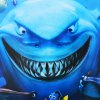 cheap 3D Underwater World and Shark Wall Stickers