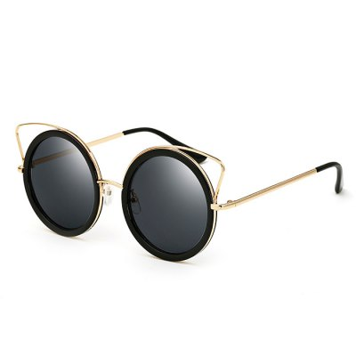 SENLAN Stylish Round Sunglasses with Colored Lens