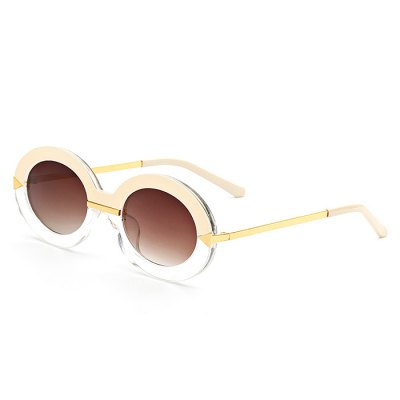 SENLAN Attractive Oblong Sunglasses with Colored Lens