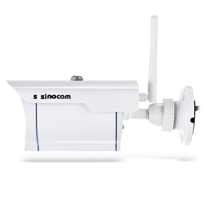 Szsinocam SN - IPC - 3009FCSW20 720P 2.0MP WiFi IP CameraIP Cameras<br>Szsinocam SN - IPC - 3009FCSW20 720P 2.0MP WiFi IP Camera<br><br>Alarm Notice: Email Photo<br>APP: cam360<br>APP Language: Chinese,English<br>Backlight Compensation: Yes<br>Brand: Szsinocam<br>Color: White<br>Compatible Operation Systems: Microsoft Windows 98/ ME /2000/ XP,Windows 7,Windows 8,Windows Vista<br>Environment: Indoor,Outdoor<br>Exterior Material: Metal<br>FOV: 72 degree<br>Frame Rate (FPS): 1 - 25fps<br>Image Adjustment: Brightness,Contrast,Hue<br>Infrared Distance: about 20m<br>Infrared LED: 3pcs array LEDs<br>IP camera performance: Night Vision, Screenshot, Support video control, Real-time video capture and recording, Motion Detection, Remote Control<br>IP Mode : Dynamic IP address, static IP address<br>Language: Chinese (Traditional),English<br>Local-storage: Micro SD card up to 64GB<br>Maximum Monitoring Range: 25 -35m<br>Minimum Illumination: 0.01 Lux<br>Mobile Access: Android,IOS<br>Model: SN-IPC-3009FCSW20<br>Motion Detection Distance: 25 - 35m<br>Network Port: 100Base-TX RJ-45<br>Online Visitor (Max.): 6<br>Operate Temperature (?): -50 - 45 Deg.C<br>Package Contents: 1 x IP Camera, 1 x English User Manual, 1 x Power Adapter ( with 80cm US Plug Power Cable ), 1 x CD, 3 x Screw, 3 x Screw Cap, 1 x Antenna<br>Package size (L x W x H): 20.50 x 11.50 x 11.00 cm / 8.07 x 4.53 x 4.33 inches<br>Package weight: 0.6680 kg<br>Pixels: 1MP<br>Product size (L x W x H): 19.00 x 8.00 x 7.00 cm / 7.48 x 3.15 x 2.76 inches<br>Product weight: 0.4350 kg<br>Protocol: DDNS,DHCP,FTP,HTTP,HTTPS,LAN,ONVIF,P2P,PPPOE,UPNP<br>Resolution: 1280 x 720<br>S/N Ration: 48dB<br>Sensor size (inch): 1/4<br>Shape: Box Camera<br>Technical Feature: Infrared, Waterproof<br>Video Compression Format: H.264<br>Video format: AVI<br>Video Resolution: 720P<br>Video Standard: NTSC,PAL<br>Waterproof: IP67<br>Web Browser: IE,Microsoft Internet Explorer 6.0 above<br>White Balance: Yes<br>WiFi Distance : 100m ( without obstacle )<br>Wireless: WiFi 802.11 b/g/n<br>Working Voltage: 12V