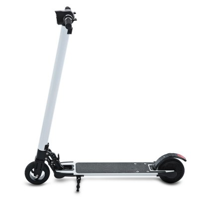 smartmey T6 Electric ScooterScooters and Wheels<br>smartmey T6 Electric Scooter<br><br>Battery: Lithium-ion battery<br>Battery Capacity: 7200mAh<br>Brand: smartmey<br>Charger type: EU plug<br>Charging Time: 2-3 hours<br>Folding Type: Folding<br>For: Office Workers, Teenagers, Adults<br>Light: Front Lamp<br>Material: Aluminum Alloy<br>Max Payload: 120kg<br>Maximum Mileage: 18km<br>Maximum Speed: 25km/h<br>Mileage (depends on road and driver weight): 15-20km<br>Model Number: T6<br>Motor Rated Power: 250W<br>Package Content: 1 x smartmey T6 Electric Scooter, 1 x Charger<br>Package size: 113.00 x 32.00 x 24.00 cm / 44.49 x 12.6 x 9.45 inches<br>Package weight: 10.8700 kg<br>Permissible Gradient (depends on your weight): 10-15 degree<br>Product size: 95.00 x 52.80 x 102.60 cm / 37.4 x 20.79 x 40.39 inches<br>Product weight: 8.7100 kg<br>Seat Type: without Seat<br>Tire Diameter: 6 inches<br>Type: Electric Kick Scooter<br>Wheel Number: 2 Wheel<br>Working Temperature: - 10 - 40 Deg.C