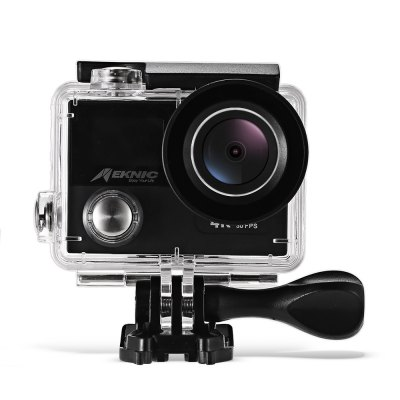 Meknic A12 4K 30fps WiFi Action Camera Ambarella A12Action Cameras<br>Meknic A12 4K 30fps WiFi Action Camera Ambarella A12<br><br>Aerial Photography: No<br>Anti-shake: Yes<br>Application: Ski, Underwater, Extreme Sports<br>Auto Focusing: Yes<br>Battery Capacity (mAh): 1050mAh<br>Battery Type: Removable<br>Brand Name: Meknic<br>Camera Pixel : 14MP<br>Charge way: USB charge by PC<br>Charging Time: 40 minutes<br>Chipset: Ambarella A12<br>Chipset Name: Ambarella<br>Features: Wireless<br>Function: WiFi, Remote Control, Anti-Shake, Time Lapse, Waterproof, Auto Focusing, Loop-cycle Recording<br>Image Format : JPEG<br>Lens Diameter: 22mm<br>Loop-cycle Recording : Yes<br>Max External Card Supported: TF 128G (not included)<br>Microphone: Built-in<br>Model: A12<br>Night vision : No<br>Package Contents: 1 x 4K Action Camera, 1 x Waterproof Housing + Screw + Mount, 1 x English User Manual, 1 x Power Adapter ( EU Plug ), 1 x Backdoor, 1 x Clip, 1 x Frame, 1 x Bicycle Mount, 1 x J-shaped Mount, 3 x Conn<br>Package size (L x W x H): 26.00 x 11.20 x 11.20 cm / 10.24 x 4.41 x 4.41 inches<br>Package weight: 0.6920 kg<br>Product size (L x W x H): 5.90 x 4.10 x 3.20 cm / 2.32 x 1.61 x 1.26 inches<br>Product weight: 0.0780 kg<br>Screen: Dual Screen<br>Screen resolution: 320x240<br>Screen size: 2.0inch<br>Standby time: 120h<br>Time lapse: Yes<br>Type: Sports Camera<br>Type of Camera: 4K<br>Video format: MP4<br>Video Frame Rate: 120fps,30FPS,60FPS<br>Video Resolution: 1080P(30fps),2.7K (30fps),4K (30fps),720P (30fps)<br>Water Resistant: 30m<br>Waterproof: Yes<br>Waterproof Rating : IP68<br>Wide Angle: 170 degree wide angle<br>WIFI: Yes<br>WiFi Distance : 15m<br>Working Time: 55 minutes at 4K