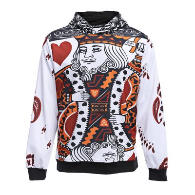 WHATLEES 3D Long Sleeve Poker HoodieMens Hoodies &amp; Sweatshirts<br>WHATLEES 3D Long Sleeve Poker Hoodie<br><br>Brand: WHATLEES<br>Material: Cotton<br>Package Contents: 1 x WHATLEES Hoodie<br>Package size: 40.00 x 30.00 x 3.00 cm / 15.75 x 11.81 x 1.18 inches<br>Package weight: 0.5000 kg<br>Product weight: 0.4600 kg<br>Size: L,M,XL,XXL