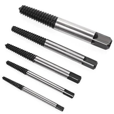 5PCS High Carbon Steel Damaged Screw Extractor 3mm - 19mm Set