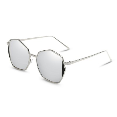 SENLAN Hexagon Sunglasses with Colored Lens