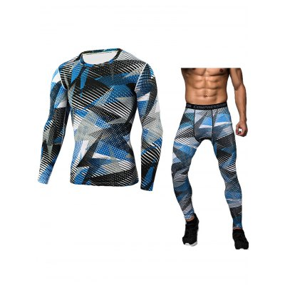Male Camo Fitness Training Suit