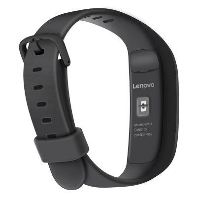 Lenovo HW01 Smart WristbandSmart Watches<br>Lenovo HW01 Smart Wristband<br><br>Alert type: Vibration<br>Available Color: Black,Red<br>Band material: Silicone<br>Band size: 23.5 x 1.2 cm / 9.25 x 0.47 inches<br>Battery  Capacity: 85mAh<br>Bluetooth calling: Phone call reminder<br>Bluetooth Version: Bluetooth 4.2<br>Brand: Lenovo<br>Case material: ABS<br>Compatability: Android 4.3 / iOS 7.1 and above systems<br>Compatible OS: Android, IOS<br>Dial size: 4 x 1.2 x 1 cm / 1.57 x 0.47 x 0.39 inches<br>Health tracker: Heart rate monitor,Pedometer,Sedentary reminder,Sleep monitor<br>IP rating: IP65<br>Messaging: Message reminder<br>Notification: Yes<br>Notification type: Wechat<br>Operating mode: Touch Screen<br>Package Contents: 1 x Lenovo HW01 Smart Wristband, 1 x Charging Cable, 1 x Chinese and English User Manual<br>Package size (L x W x H): 10.20 x 5.50 x 7.00 cm / 4.02 x 2.17 x 2.76 inches<br>Package weight: 0.1200 kg<br>People: Female table,Male table<br>Product size (L x W x H): 23.50 x 1.20 x 1.00 cm / 9.25 x 0.47 x 0.39 inches<br>Product weight: 0.0220 kg<br>Remote control function: Remote music, Remote Camera<br>Screen: OLED<br>Screen resolution: 128 x 32<br>Screen size: 0.91 inch<br>Shape of the dial: Rectangle<br>Standby time: 7 days<br>Type of battery: Lithium-ion polymer battery<br>Waterproof: Yes
