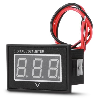HakkaDeal V40D Green Digital LED Voltmeter ModuleDIY Parts &amp; Components<br>HakkaDeal V40D Green Digital LED Voltmeter Module<br><br>Brand: HakkaDeal<br>Package Contents: 1 x Voltmeter Module<br>Package Size(L x W x H): 5.00 x 3.00 x 3.00 cm / 1.97 x 1.18 x 1.18 inches<br>Package weight: 0.0500 kg<br>Product Size(L x W x H): 4.00 x 2.30 x 2.50 cm / 1.57 x 0.91 x 0.98 inches<br>Product weight: 0.0230 kg<br>Type: Other