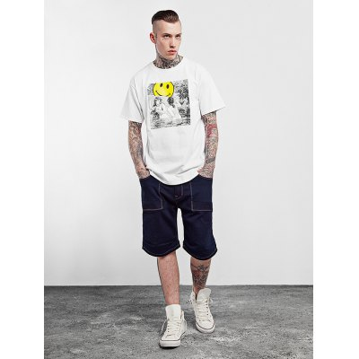 Pure Cotton Weird T ShirtsMens Short Sleeve Tees<br>Pure Cotton Weird T Shirts<br><br>Color: Black,White<br>Material: Cotton<br>Neckline: Round Neck<br>Package Content: 1 x T Shirt<br>Package size: 38.00 x 28.00 x 1.00 cm / 14.96 x 11.02 x 0.39 inches<br>Package weight: 0.2100 kg<br>Product weight: 0.1800 kg<br>Season: Spring, Summer, Autumn, Winter<br>Size: L,XL,XXL<br>Sleeve Length: Short Sleeves