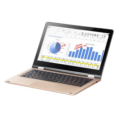 VOYO VBOOK A1 NotebookLaptops<br>VOYO VBOOK A1 Notebook<br><br>3.5mm Headphone Jack: Yes<br>AC adapter: 100-240V 12V 3A<br>Battery / Run Time (up to): 8 hours video playing time<br>Battery Type: 3.7V / 12000mAh Polymer Lithium battery<br>Bluetooth: 4.0<br>Brand: Voyo<br>Caching: 2MB<br>Camera type: Single camera<br>CD Driver Type: No Supported<br>Charger: 1<br>Charging Time.: 5 hours<br>Core: Quad Core, 1.1GHz<br>CPU: Intel APOLLO LAKE N3450<br>CPU Brand: Intel<br>CPU Series: Intel Celeron<br>DC Jack: Yes<br>Display Ratio: 16:9<br>E-book format: TXT<br>English Manual : 1<br>Front camera: 2.0MP<br>Graphics Chipset: Intel Graphics 500<br>Graphics Type: Integrated Graphics<br>Hard Disk Interface Type: M.2<br>Hard Disk Memory: 32GB eMMC + 128GB SSD<br>Languages: Windows OS is built-in Chinese and English, and other languages need to be downloaded by WiFi<br>Material of back cover: Plastic<br>MIC: Supported<br>Micro HDMI slot: Yes<br>Model: VBOOK A1<br>MS Office format: PPT, Excel, Word<br>Music format: MP3, AAC<br>Notebook: 1<br>OS: Windows 10<br>Package size: 34.00 x 24.60 x 10.60 cm / 13.39 x 9.69 x 4.17 inches<br>Package weight: 2.2500 kg<br>Picture format: JPEG, GIF, BMP, PNG, JPG<br>Power Consumption: 4W-6W<br>Process Technology: 14nm<br>Product size: 29.00 x 19.60 x 1.60 cm / 11.42 x 7.72 x 0.63 inches<br>Product weight: 1.2000 kg<br>RAM: 4GB<br>RAM Slot Quantity: One<br>RAM Type: DDR3L<br>Screen resolution: 1920 x 1080 (FHD)<br>Screen size: 11.6 inch<br>Screen type: IPS<br>Skype: Supported<br>Speaker: Built-in Dual Channel Speaker<br>Threading: 4<br>Touch pen: 1<br>Type: Notebook<br>USB Host: Yes 1 x USB 3.0+1 x USB2.0<br>Video format: MP4, 3GP<br>WIFI: 802.11 a/b/g/n/ac wireless internet<br>WLAN Card: Yes<br>Youtube: Supported