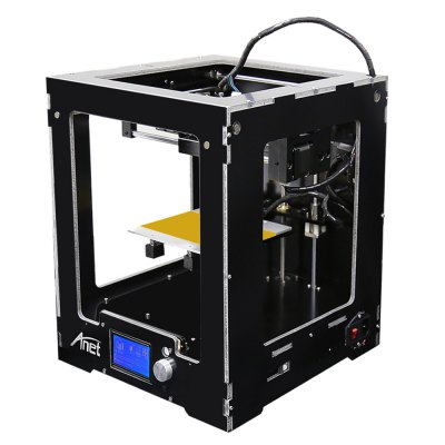 Anet A3 Full Aluminum Plastic Frame Assembled 3D Printer3D Printers, 3D Printer Kits<br>Anet A3 Full Aluminum Plastic Frame Assembled 3D Printer<br><br>Brand: Anet<br>File format: STL, G-code<br>Host computer software: Cura<br>LCD Screen: Yes<br>Material diameter: 1.75mm<br>Memory card offline print: TF card<br>Model: A3<br>Nozzle diameter: 0.4mm<br>Nozzle quantity: Single<br>Package size: 35.00 x 35.00 x 48.50 cm / 13.78 x 13.78 x 19.09 inches<br>Package weight: 10.5000 kg<br>Packing Contents: 1 x A3 Assembled 3D Printer<br>Packing Type: Assembled packing<br>Print speed: 40 - 120mm/s<br>Product size: 31.50 x 33.30 x 37.50 cm / 12.4 x 13.11 x 14.76 inches<br>Product weight: 10.0000 kg<br>Type: Complete Machine<br>Voltage: 110V/220V<br>XY-axis positioning accuracy: 0.012mm<br>Z-axis positioning accuracy: 0.004mm