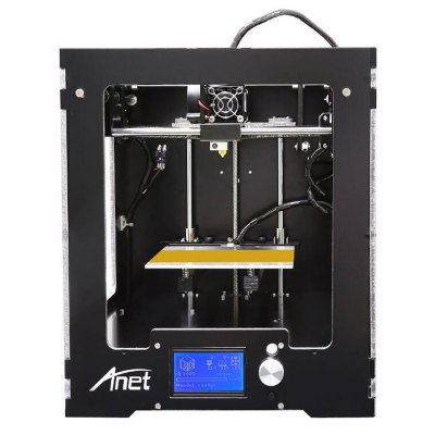 Anet A3 Full Aluminum Plastic Frame Assembled 3D Printer3D Printers, 3D Printer Kits<br>Anet A3 Full Aluminum Plastic Frame Assembled 3D Printer<br><br>Brand: Anet<br>File format: STL, G-code<br>Host computer software: Cura<br>LCD Screen: Yes<br>Material diameter: 1.75mm<br>Memory card offline print: TF card<br>Model: A3<br>Nozzle diameter: 0.4mm<br>Nozzle quantity: Single<br>Package size: 35.00 x 35.00 x 48.50 cm / 13.78 x 13.78 x 19.09 inches<br>Package weight: 10.5000 kg<br>Packing Contents: 1 x A3 Assembled 3D Printer<br>Packing Type: Assembled packing<br>Print speed: 40 - 120mm/s<br>Product size: 31.50 x 33.30 x 37.50 cm / 12.4 x 13.11 x 14.76 inches<br>Product weight: 10.0000 kg<br>Voltage: 110V/220V<br>XY-axis positioning accuracy: 0.012mm<br>Z-axis positioning accuracy: 0.004mm