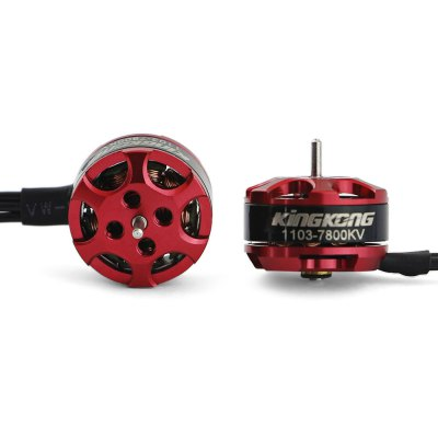 Original KingKong 1103 7800KV Brushless MotorMotor<br>Original KingKong 1103 7800KV Brushless Motor<br><br>Brand: KingKong<br>Compatible Propeller Sizes: 2 - 3 inches ( 45 - 65mm )<br>KV: 7800<br>Maximum Thrust: 150g<br>Model: 1103<br>Motor Type: Brushless Motor<br>No. of Cells: 1 - 2S LiPo<br>Operating Voltage / Current: 3.7 - 7.4V, 6A<br>Package Contents: 1 x Brushless Motor, 1 x Pack of M2 Screws<br>Package size (L x W x H): 8.00 x 6.00 x 4.00 cm / 3.15 x 2.36 x 1.57 inches<br>Package weight: 0.0370 kg<br>Product size (L x W x H): 1.10 x 1.10 x 1.40 cm / 0.43 x 0.43 x 0.55 inches<br>Product weight: 0.0040 kg<br>Shaft Diameter: 1mm<br>Type: Motor