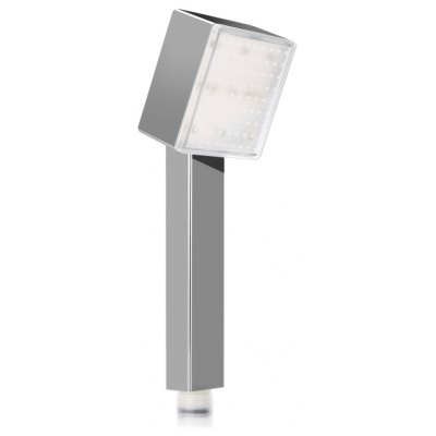 SDS-A4 LED Temperature Control Square Shower Head with Romantic 3 Colors Light for Bathroom
