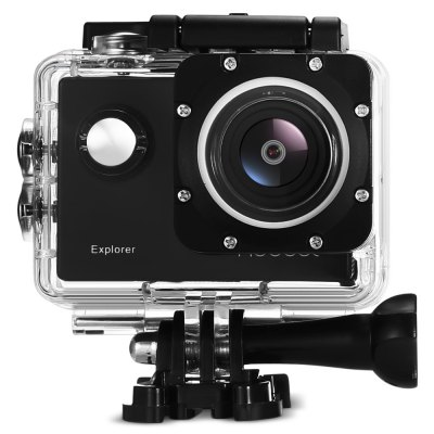 MGCOOL Explorer Action Camera 4K 170 Degree FOVAction Cameras<br>MGCOOL Explorer Action Camera 4K 170 Degree FOV<br><br>Aerial Photography: No<br>Anti-shake: No<br>Auto Focusing: No<br>Battery Capacity (mAh): 1050mAh<br>Battery Type: Removable<br>Brand: MGCOOL<br>Camera Pixel : 16MP<br>Camera Timer: Yes<br>Charge way: USB charge by PC<br>Charging Time: 2 hours<br>Chipset: Allwinner V3<br>Chipset Name: Allwinner<br>Decode Format: H.264<br>Features: Wireless<br>Function: Camera Timer<br>Image Format : JPEG<br>Language: English,French,German,Italian,Japanese,Korean,Polish,Portuguese,Russian,Simplified Chinese,Spanish,Traditional Chinese<br>Lens Diameter: F2.6<br>Max External Card Supported: TF 64G (not included)<br>Model: Explorer<br>Night vision : No<br>Package Contents: 1 x MGCOOL Explorer Action Camera with Waterproof Case, 1 x Camera Bracket, 1 x Clip, 1 x USB Data Cable ( 72cm ), 1 x Bicycle Stand, 2 x Helmet Base, 1 x Connector + Screw, 1 x Eglish User Manual<br>Package size (L x W x H): 11.90 x 11.90 x 11.20 cm / 4.69 x 4.69 x 4.41 inches<br>Package weight: 0.4630 kg<br>Product size (L x W x H): 5.90 x 4.10 x 3.00 cm / 2.32 x 1.61 x 1.18 inches<br>Product weight: 0.0600 kg<br>Screen resolution: 320x240<br>Screen size: 2.0inch<br>Screen type: TFT<br>Sensor: CMOS<br>Sensor size (inch): 1/3.2<br>Standby time: 3 hours<br>Type: Sports Camera<br>Type of Camera: 4K<br>Video format: MP4<br>Video Frame Rate: 120fps,30FPS,60FPS<br>Video Resolution: 1080P(30fps),1080P(60fps),2K (30fps),4K(15fps),720P (120fps),720P (30fps),720P (60fps)<br>Water Resistant: 30m<br>Waterproof: Yes<br>Waterproof Rating : IP68<br>Wide Angle: 170 degree wide angle<br>WIFI: Yes<br>WiFi Distance : 10m<br>Working Time: 80 minutes at 1080P