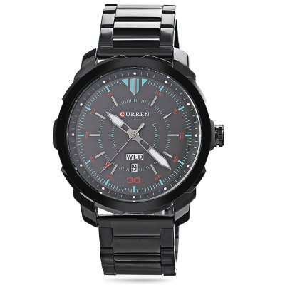 CURREN 8266 Male Quartz WatchMens Watches<br>CURREN 8266 Male Quartz Watch<br><br>Band material: Stainless Steel<br>Band size: 24.00 x 2.40 cm / 9.45 x 0.94 inches<br>Brand: Curren<br>Case material: Alloy<br>Clasp type: Folding clasp with safety<br>Dial size: 4.50 x 4.50 x 1.10 cm / 1.77 x 1.77 x 0.43 inches<br>Display type: Analog<br>Movement type: Quartz watch<br>Package Contents: 1 x CURREN 8266 Male Watch<br>Package size (L x W x H): 11.50 x 8.40 x 6.80 cm / 4.53 x 3.31 x 2.68 inches<br>Package weight: 0.1760 kg<br>Product size (L x W x H): 24.00 x 4.50 x 1.10 cm / 9.45 x 1.77 x 0.43 inches<br>Product weight: 0.1350 kg<br>Shape of the dial: Round<br>Special features: Day, Date<br>Watch color: Silver and White, Silver and Black, Black and Gray, Black and Blue, Black<br>Watch mirror: Mineral glass<br>Watch style: Business<br>Watches categories: Men<br>Water resistance : 30 meters
