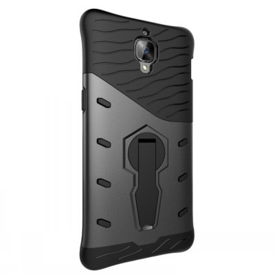 Luanke TPU Back Cover BumperCases &amp; Leather<br>Luanke TPU Back Cover Bumper<br><br>Brand: Luanke<br>Compatible Model: OnePlus 3 / 3T<br>Features: Anti-knock, Back Cover, Cases with Stand<br>Material: TPU, PC<br>Package Contents: 1 x Phone Case<br>Package size (L x W x H): 21.00 x 13.00 x 2.00 cm / 8.27 x 5.12 x 0.79 inches<br>Package weight: 0.0670 kg<br>Product Size(L x W x H): 16.00 x 8.20 x 1.00 cm / 6.3 x 3.23 x 0.39 inches<br>Product weight: 0.0410 kg<br>Style: Cool